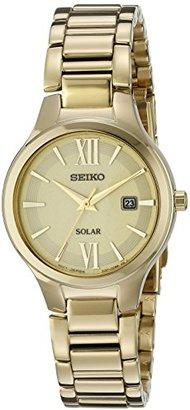 Seiko Women's SUT212 Analog Display Analog Quartz Gold Watch $111.62 thestylecure.com