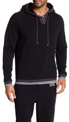 Psycho Bunny Brushed Back Terry Jogger Hood