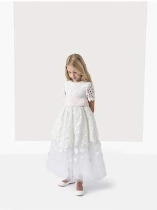 Oscar de la Renta Kids Emma Guipure Lace And Tulle Dress