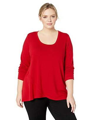 Karen Kane Women's Plus Size Long Sleeve Crossover Sweater
