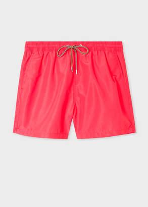 Paul Smith Men's Fluorescent Pink Swim Shorts