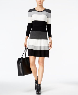 Tommy Hilfiger Striped Sweater Dress $129 thestylecure.com