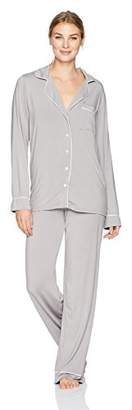 Barefoot Dreams Luxe Milk Jersey Piped Pajama (, )