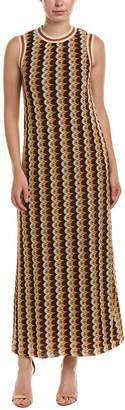 Anna Sui Zig Zag Stripe Knit Maxi Dress