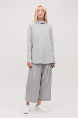 Cos A-LINE TOP WITH FUNNEL NECK