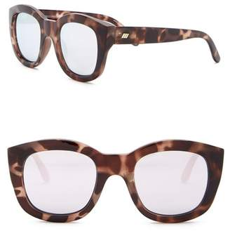 Le Specs Runaways 50mm Square Sunglasses