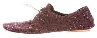 Anniel Embellished Suede Oxfords