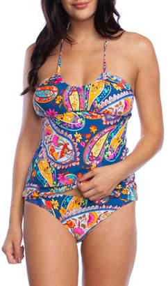 Trina Turk Moroccan Paisley Halter Tankini Bikini Top