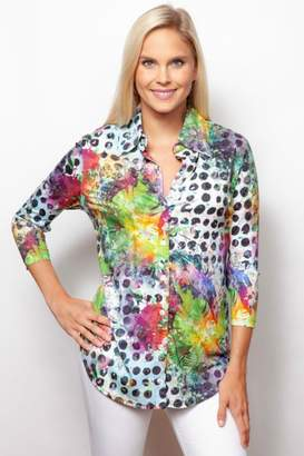 Sno Skins Colorful Button-Up Shirt