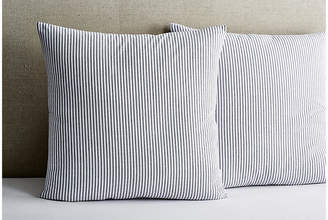 Matteo Set of 2 Black Tick Euro Shams - White