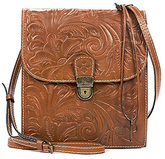 Patricia Nash Heritage Collection Floral-Embossed Andrea Cross-Body Organizer Bag $199 thestylecure.com