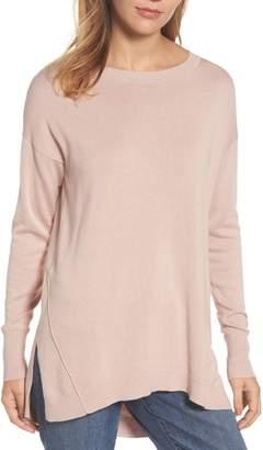 Caslon Zip Back High/Low Tunic Sweater