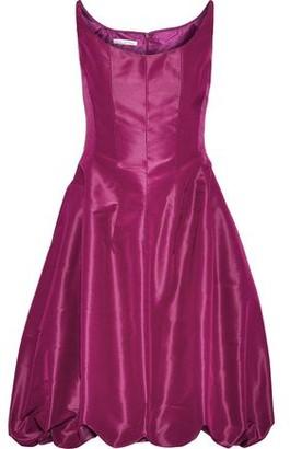 Oscar de la Renta Gathered Silk-taffeta Mini Dress