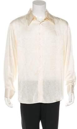 Versace Floral Print Button-Up Shirt