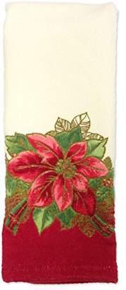 Lenox Poinsettia Tartan Printed Hand Towel
