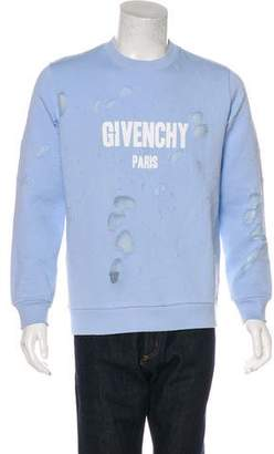 Givenchy 2018 Destroyed Logo Sweatshirt w/ Tags