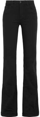 J Brand - Maria High-rise Flared Jeans - Black $230 thestylecure.com