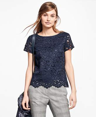 Cotton-Blend Lace Blouse $98 thestylecure.com