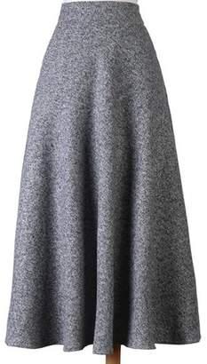 Sunsnow Women's A-line High Waist Flared Long Skirts for Winter Wool Blended Skirt (2XL, )