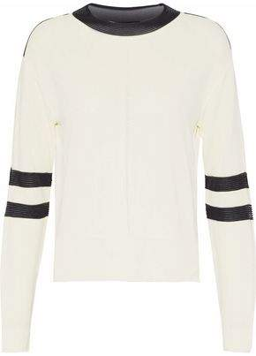 Belstaff Distressed Two-Tone Knitted Sweater