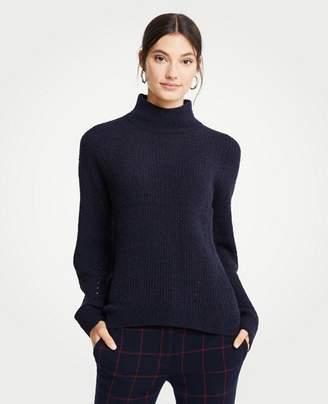 Ann Taylor Petite Mock Neck Boucle Sweater