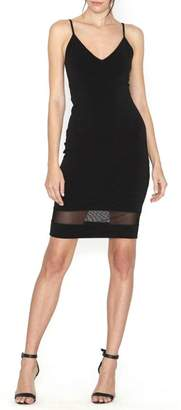 Alice + Olivia Cate Mesh-Insert Dress