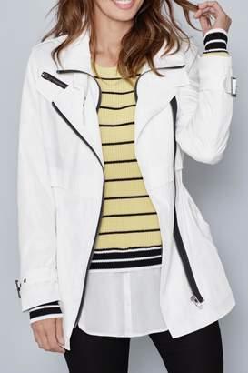 Katherine Barclay White-Black Rain Jacket