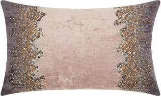 Nourison Mina Victory Couture Luster Beaded Reflections Throw Pillow