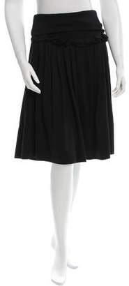 Sonia Rykiel Ruffle-Trimmed Knee-Length Skirt