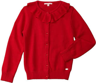 E-Land Kids Girls' Ruffle Cardigan