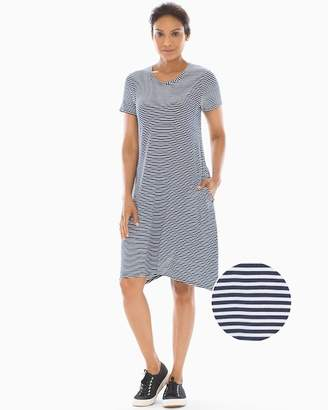 61ddb1c47c1f Soft Jersey Swing Dress Stocking Stripe Maritime