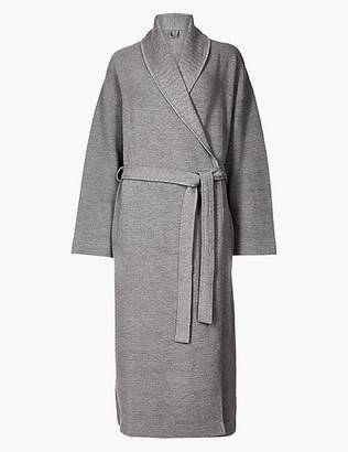 Marks and Spencer Textured Ribbed Waffle Dressing Gown