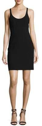 Elizabeth and James Huette Fitted Sleeveless Mini Sheath Dress, Black