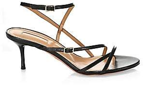 Aquazzura Women's Carolyne Leather Strappy Sandals