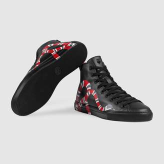 Gucci Leather high-top with snake
