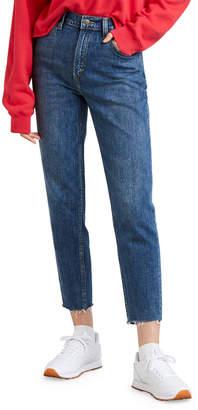 Levi's Premium High-Waist Straight-Leg Cropped Mom Jeans