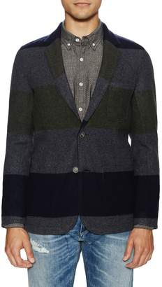 Life After Denim Men's Oregon Trail Striped Wool Blazer