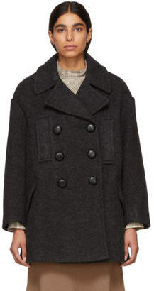 Isabel Marant Grey Wool Enola Coat