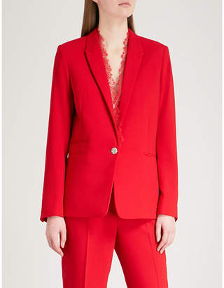 The Kooples Lace-trim crepe jacket
