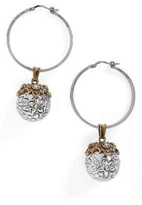 Women's Alexander Mcqueen Metallic Sphere Earrings $545 thestylecure.com