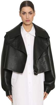 Maison Margiela Oversized Cropped Leather Jacket