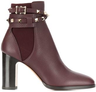 Valentino Garavani Rockstud embellished ankle boots