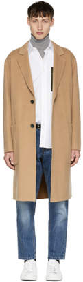 Ami Alexandre Mattiussi Tan Oversized Two-Button Coat