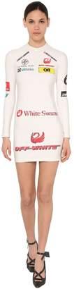 Off-White Off White MULTI LOGO STRETCH JERSEY MINI DRESS