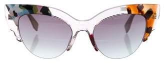 Fendi 2016 Jungle Cat-Eye Sunglasses