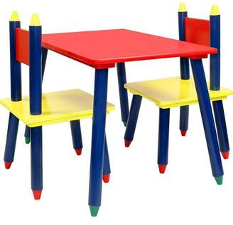 N. Click N' Play Kids Wooden Crayon Themed Table And Chair Set.