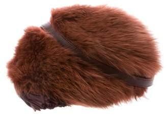 Loeffler Randall Fox Fur Crossbody black Fox Fur Crossbody