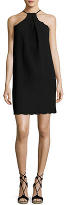 Trina Turk PINCHED HALTER DRESS W SCALL $268 thestylecure.com