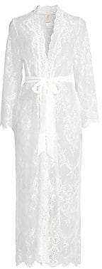 Jonquil Women's Sara Scalloped Lace Robe