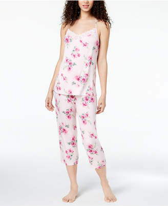 Thalia Sodi Knit Lace-Racerback Pajama Set, Created for Macy's
